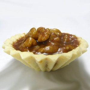Caramel basket with nuts